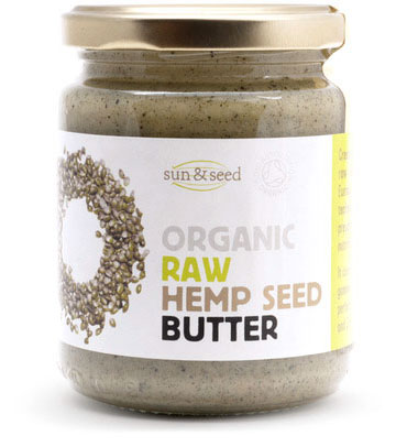 Organic raw hemp seed butter